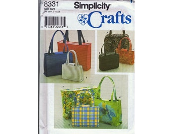 Simplicity Crafts 8331 - Handbags and Tote Sewing Pattern