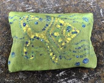 Silk Batik Tissue Holder, Pocket Size Tissue Holder, Batik Tissue Cover, One of a Kind Gift, Unique Gift for Her, Boho Silk Batik