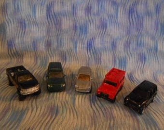 Five Vintage Die Cast Cars - Truck-Suv-Jeep