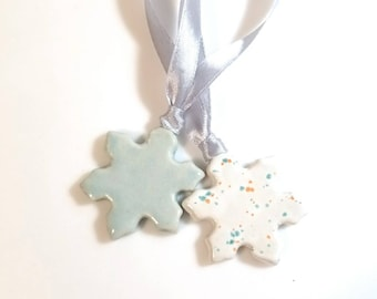 Snowflake Ornament , Christmas Decor, Whimsical, Winter Wedding Favor