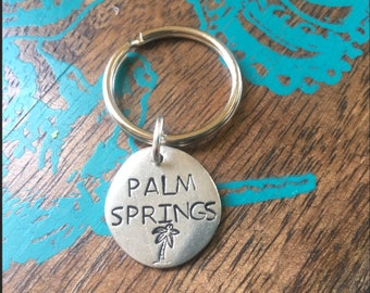 Hand Stamped Palm Springs charm