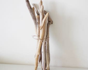 """9 Thick Driftwood Pieces -- Fine Quality Sea Wood Supply --  from 36 cm to 50 cm (14.2"""" to 19.7"""") -- For Macrame, Wovens, Door Handles"""