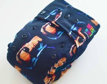 Wise Guyz T-800 One Size Pocket/AI2 Cloth Diaper- Turquoise AWJ Lining