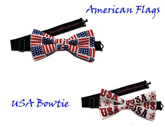Patriotic Bow Tie- Pledge of Allegiance Bow Tie- American Pledge of Allegiance Bow Tie- USA Flag Bow Tie- Adjustable- Newborn to Adult