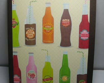 Vintage Soda Bottles 8-Card Box