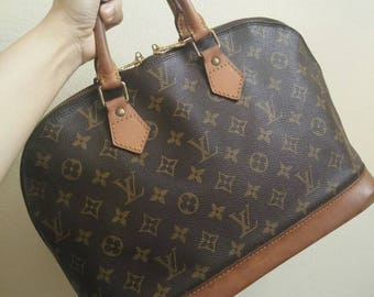 LOUIS VUITTON Handbag Vintage Monogram Canvas ALMA Pm 1993, Canvas & Cowhide Good Condition,Not Much beautiful but Strong to Useful