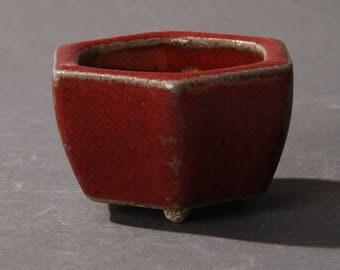 Mini Bonsai pot Hexagonal Red