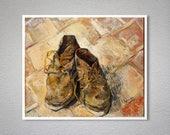 Shoes by Vincent Van Gogh, 1888 Fine Art Print -  Poster Paper, Sticker or Canvas Print / Gift Idea