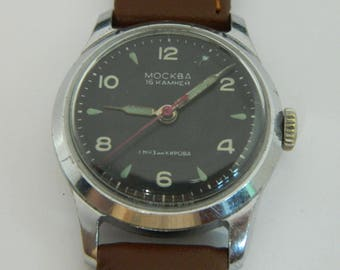 USSR Russian watch Moscow Moskva 1-MChZ #164
