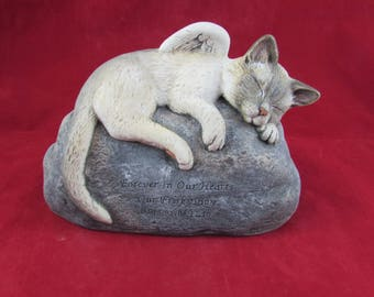 custom for jennifer Ceramic Engraved/Customized Painted Cat Grave Marker - hand made, customized, indoor or outdoor