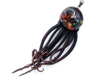 Universe 14 Jellyfish ~~~~ Galaxy Jellyfish pendant