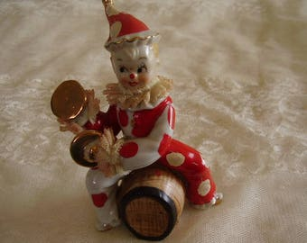 Vintage Porcelain CLOWN/Dresden Lace