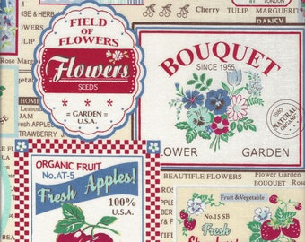 Fruit Labels (Color E) from the 30's Collection by Atsuko Matsuyama for Yuwa of Japan
