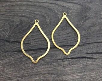 Geometric Earring, Chandelier Earring, Gold Ear Wire