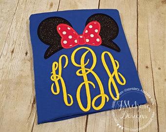 Minnie- Inspired Monogram Tiara with Phrase - Princess Movie - Custom Tee 2092 royal