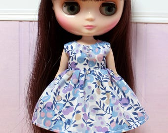 BLYTHE Middie doll Its my party dress - LIBERTY Wiltshire blue berries