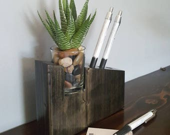 Captivating Decorative Pen Holder, Desk Accessories, Desk Decor, Unique Office Decor,  Minimalist,
