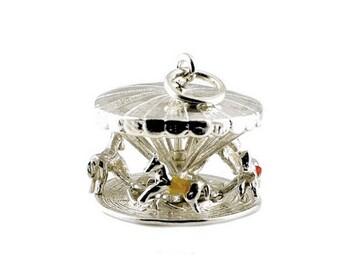Sterling Silver Best Ever Large Carousel Charm For Bracelets
