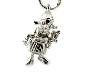 Sterling Silver Movable Dutch Girl Charm For Bracelets