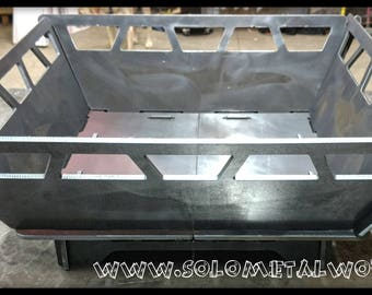 "22""x22"" Modular Fire Pit. .25"" Steel Plate, No Welding required. Free Shipping!"