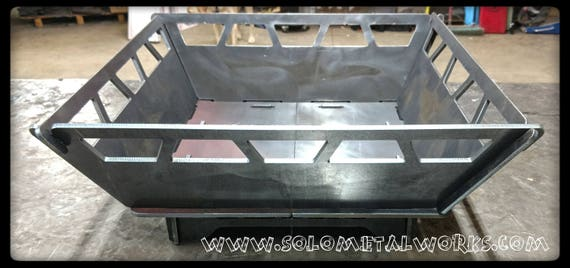 22x22 Modular Fire Pit 25 Steel Plate No
