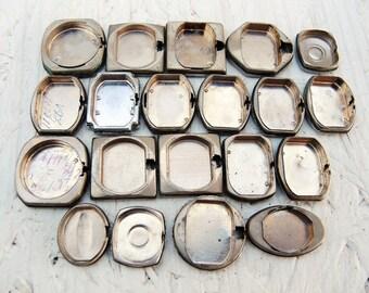 Vintage Watch Back Lids - set of 20 - c193