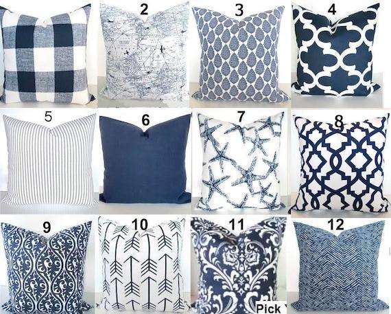 Navy Blue Decorative Bed Pillows: Blue Pillows Blue Throw Pillows Navy Blue Decorative Pillow