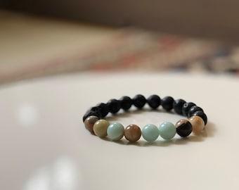 Amazonite Lava Diffuser Bracelet