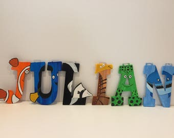 Finding Nemo/Dory wooden letters