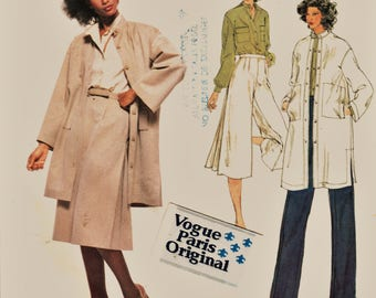 Late 70's Vogue Paris Original Pattern 1838 Tunic & Gauchos Nina Ricci Sz 12 Uncut FF w LaBeL Haute Couture Designer Sewing Patterns Supply