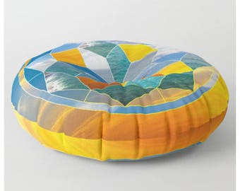 Round Floor Pillow Mandala Floor Pillow Mandala Floor Cushion Galaxy Floor Pillow Pouf Cover Pouf Pouffe Poufs for Sitting