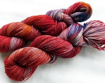 Handdyed SockYarn, 75 Wool, 25 Nylon 100g 3.5 oz. Nr. 142