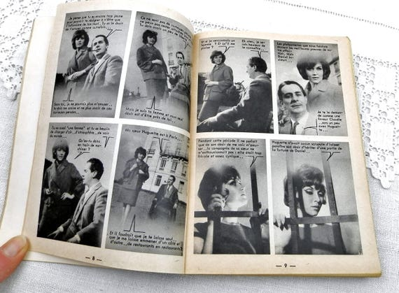 Vintage French 1965 Photo Romance and Graphic Novel Book, 60s Mid Century Romance Booklet from France, Adult Romantic Love Fiction