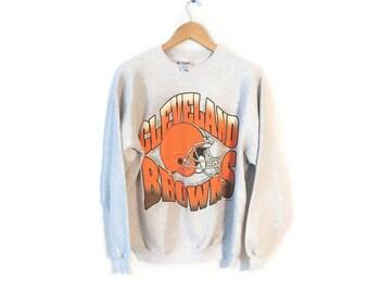 Cleveland Browns sweatshirt size XL Hanes Gray 1990s