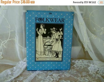 Summer Sale Folkwear 216 Pattern School Mistress Shirtwaist and Skirt, Period Clothing, Vintage Item, Costuming, Plays Sizes 8 to 14