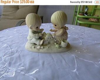 Summer Sale Precious Moments God Bless Our Home Figurine, Vintage Item, Enesco 12319, Samuel Butcher