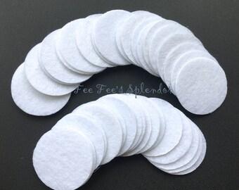 """DIY Felt circles- Set of 100 pcs - Craft felt- Felt backing headband supply - 40 mm - 1.5"""""""