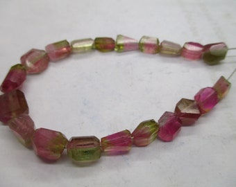 Stunning Super 20 Pc Beautiful Polished  Watermelon  Tourmaline Beads Strands Afghanistan beads T 78
