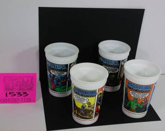 1980's Masters of the Universe 7-11 Cups-Complete Set of 4