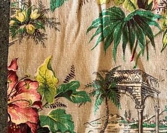 vintage 30's barkcloth
