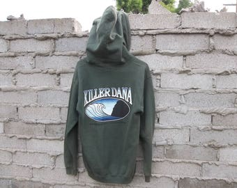 Vintage Sweatshirt Hoodie 1990s KIller Dana Surfer Dana Point OC Orange County Skater Faded Grunge Thick Chunky Street Chill Norm Core
