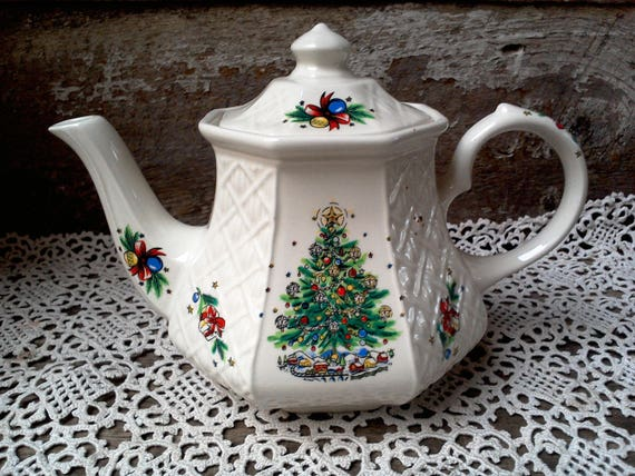 Sadler Tea Pot christmas tea pot christmas gift housewarming gift wedding gift newlywed gift anniversary gift birthday gift english tea pot