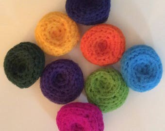 Set of 3 Kitchen Dish Crochet Scrubbies / Pot Scrubbers for 4.50