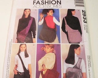 SALE Messenger Bag Over the shoulder lined briefcase backpack laptop case craft accessories sewing pattern McCalls 2933 UNCUT FF