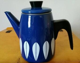 キャサリンホルム ロータス コーヒー ポット Catherinholm used lotus blue coffee pot.