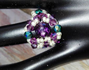 Kit ring Esmeralde in purple and green to make yourself