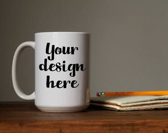 Mug Stock Photo -  Styled Stock Photo -  Styled Photography - Mug Template Sublimation - Stock Photos - Mug Stock Image - Workspace Stock