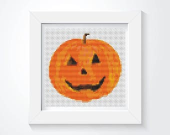 Halloween Cross Stitch Chart, Mr Pumpkin Cross Stitch Pattern PDF, Art Cross Stitch, Holiday Cross Stitch, Embroidery Chart (TAS138)