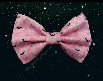 Bats Moon Stars Bow- Creepy Cute-  Gothic Lolita -Pastel