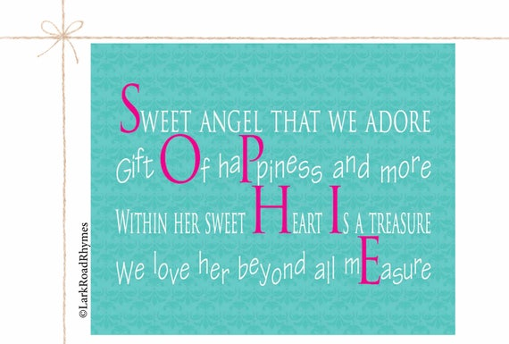 Baby gifts newborn personalized name gifts girl names unique like this item negle Images